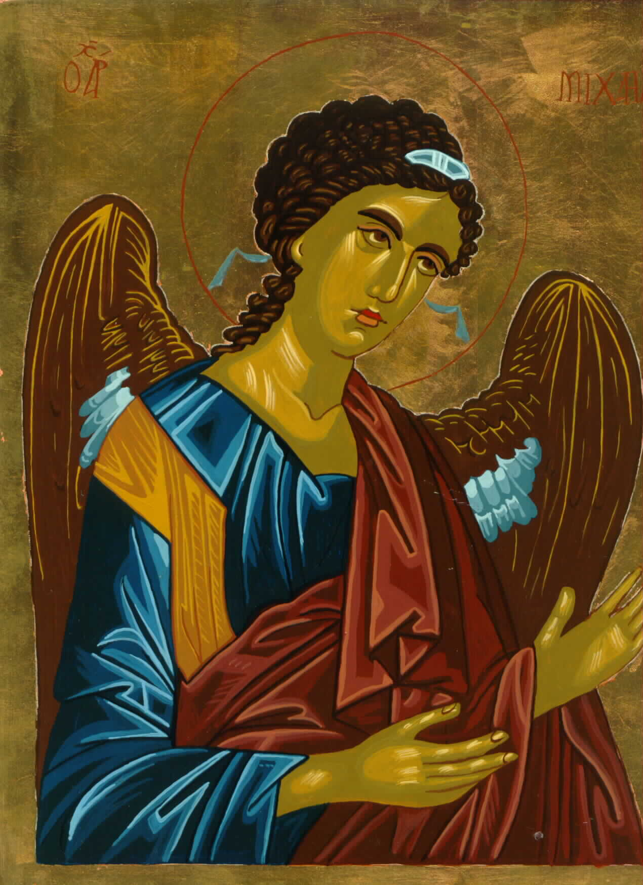 Archangel Michael Icon by Olga Christine