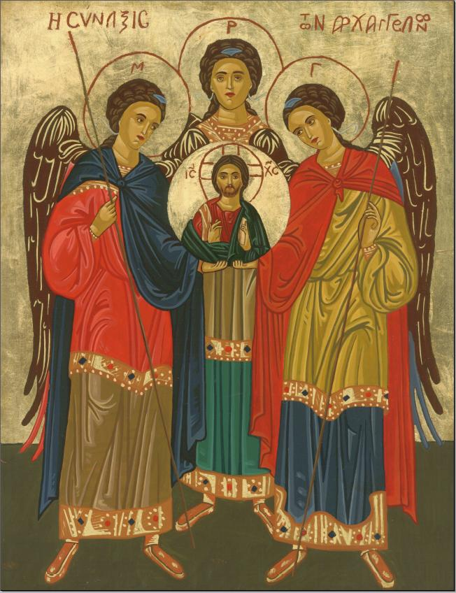 Assembly of Angels Icon by Olga Christine