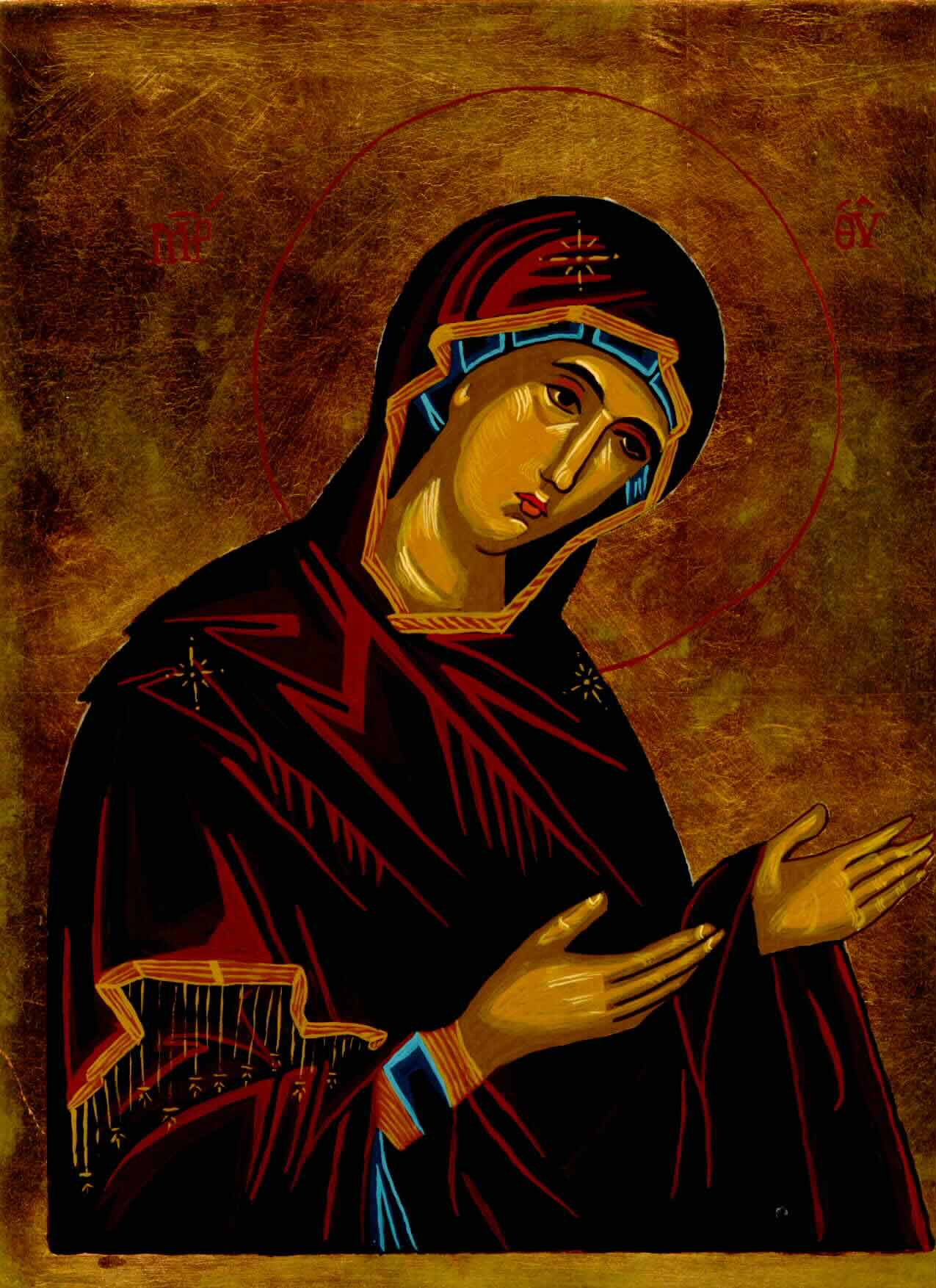 Mary In Suplication Icon by Olga Christine
