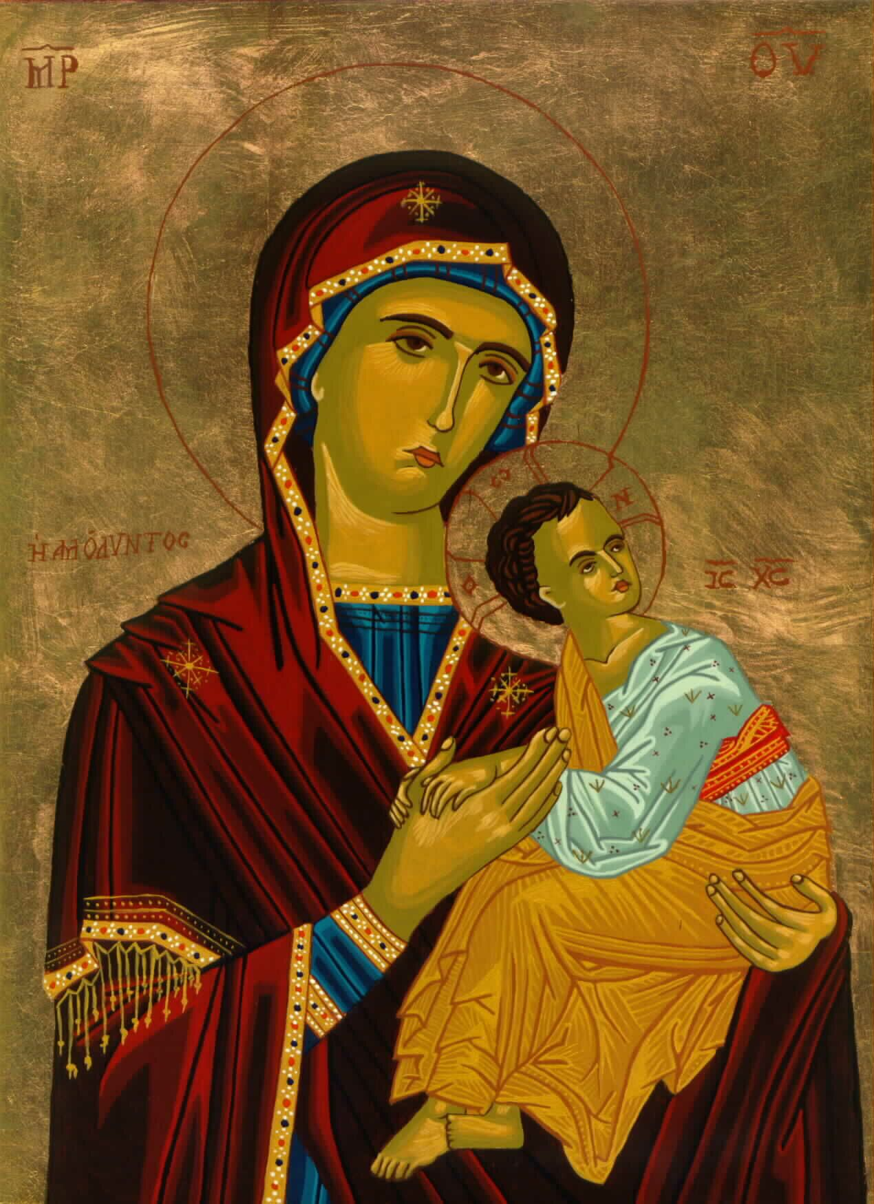 Mary [Theotokos] of the Passion Icon by Olga Christine