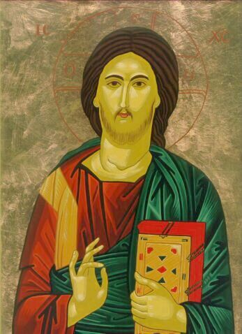 Pantocrator Icon by Olga Christine