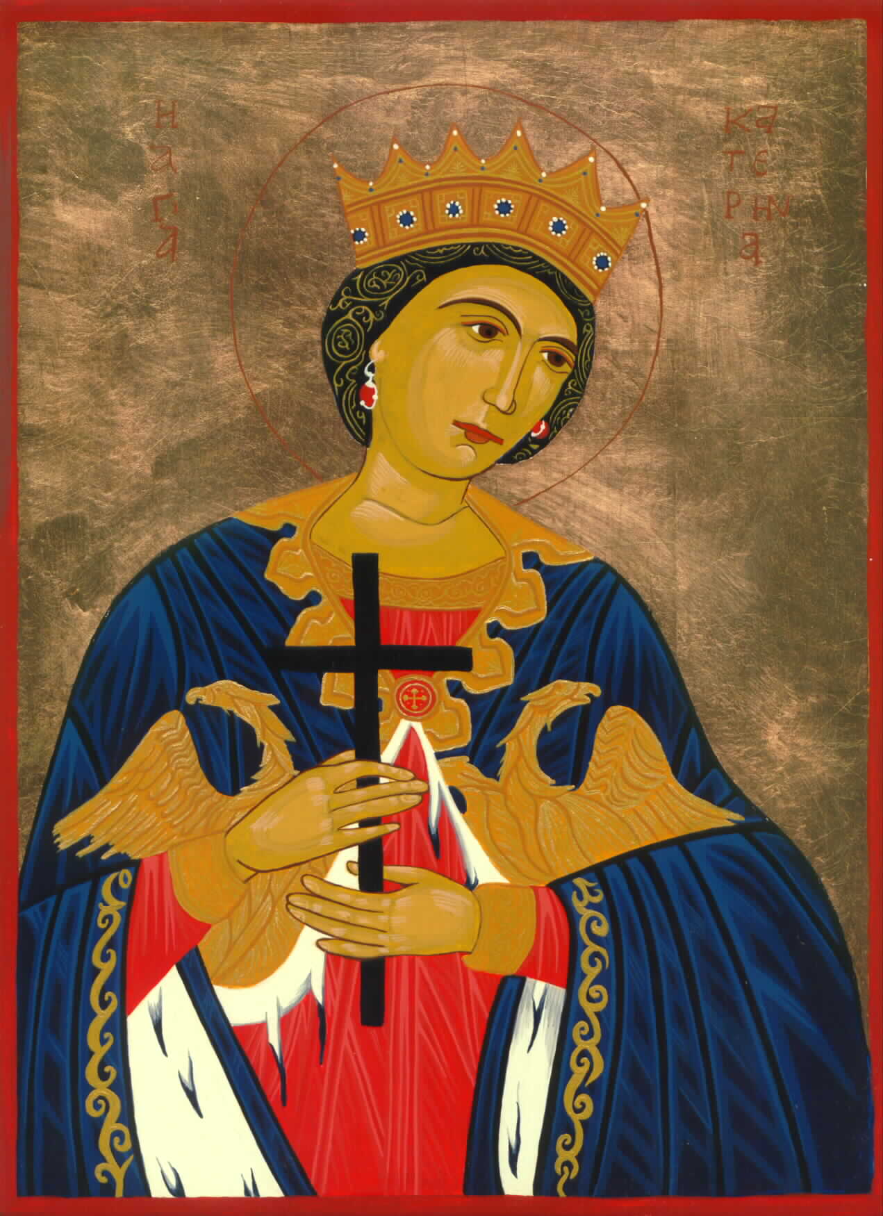St Catherine Icon by Olga Christine
