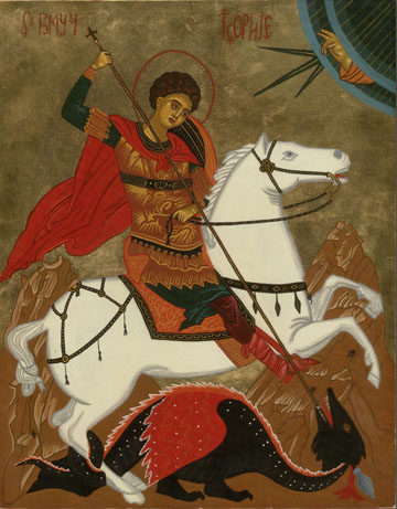St George Icon by Olga Christine