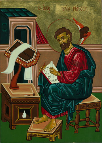 St Mark Icon by Olga Christine