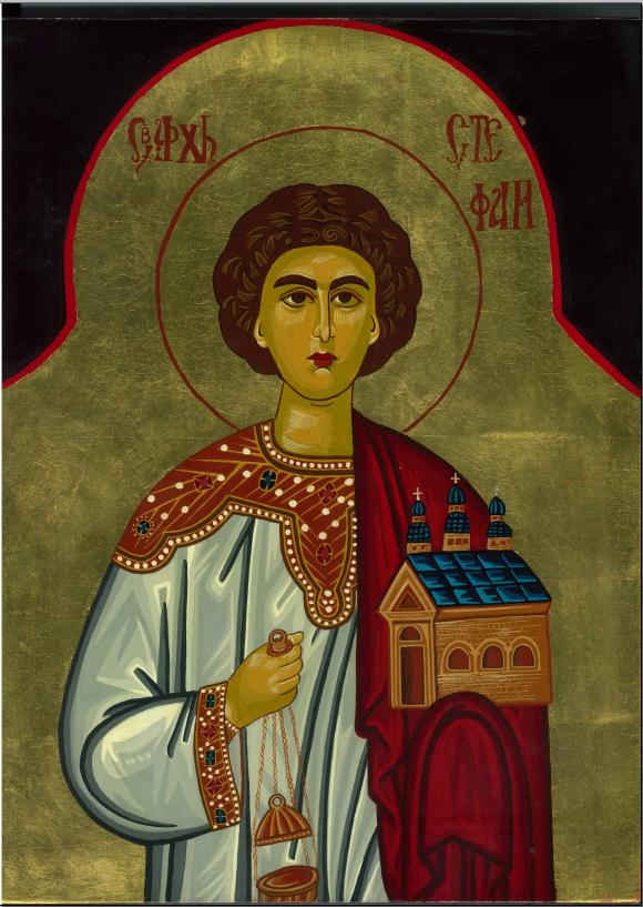 St Stephen Icon by Olga Christine