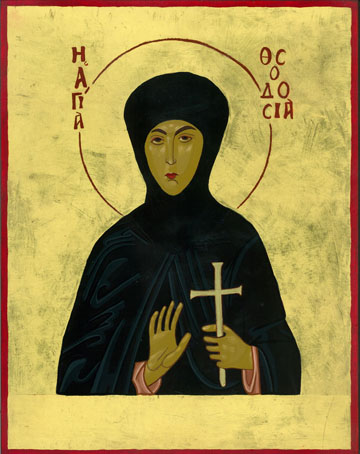 St Theodosia Icon by Olga Christine